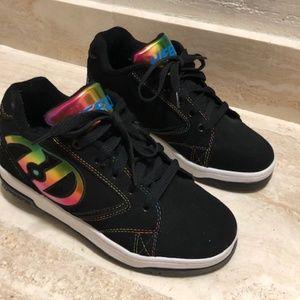 Kids Heelys Rainbow and Black Shoes Size US 5
